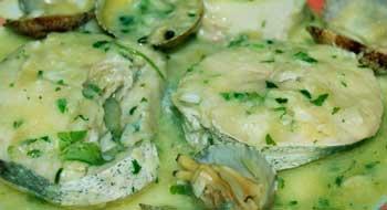 merluza en salsa verde dieta